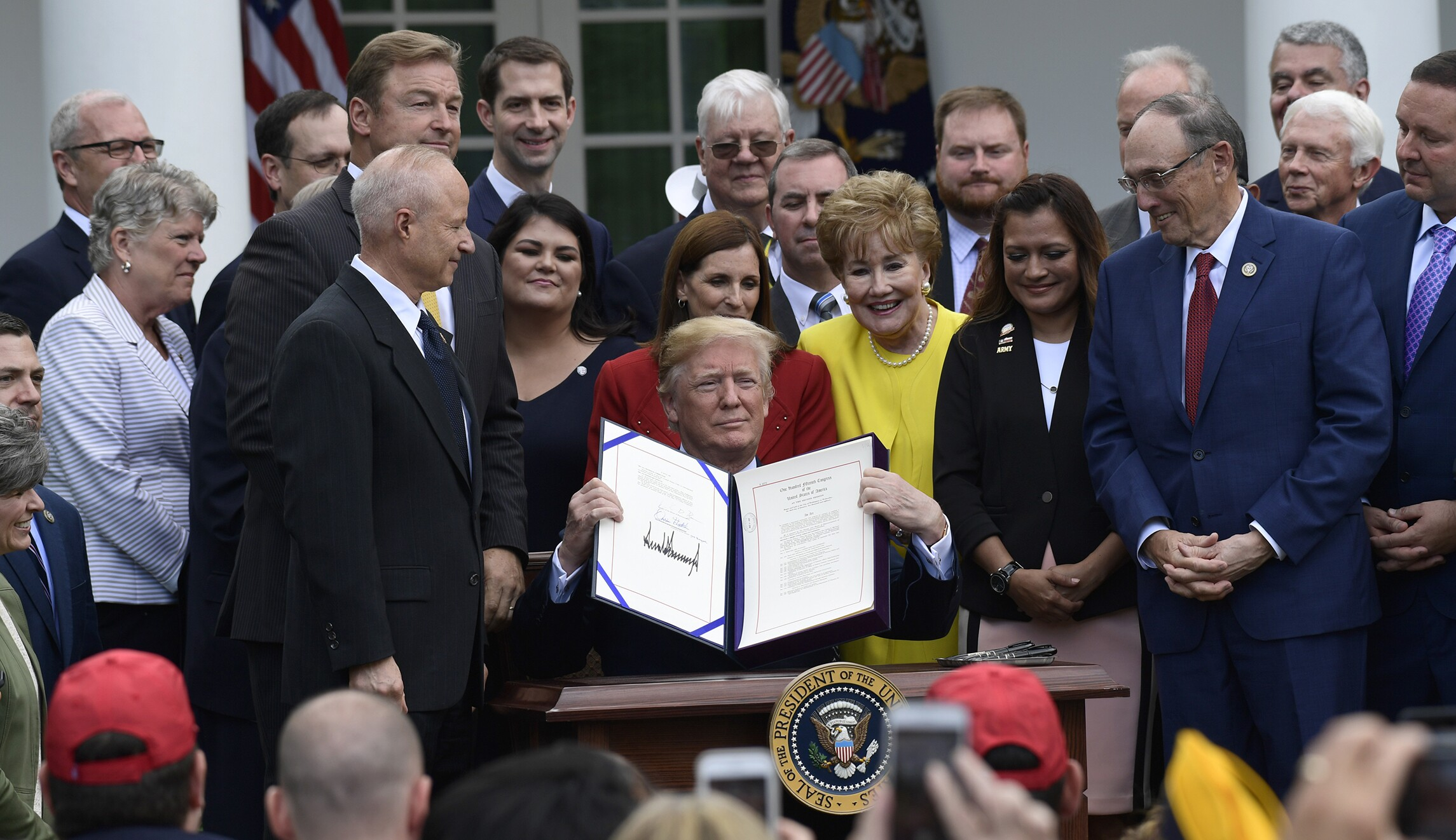 Trump signs VA Mission Act into law to give veterans more