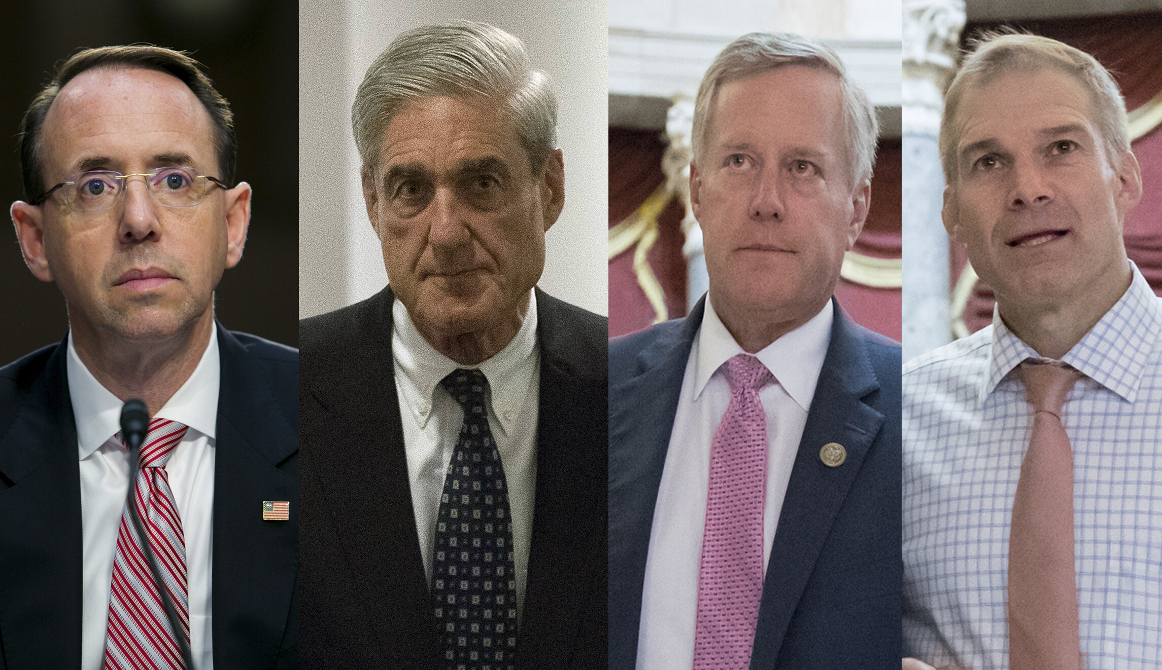 Rod Rosenstein Robert Mueller Mark Meadows Jim Jordan