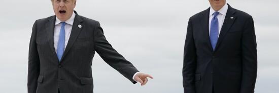 British Prime Minister Boris Johnson with President Joe Biden.