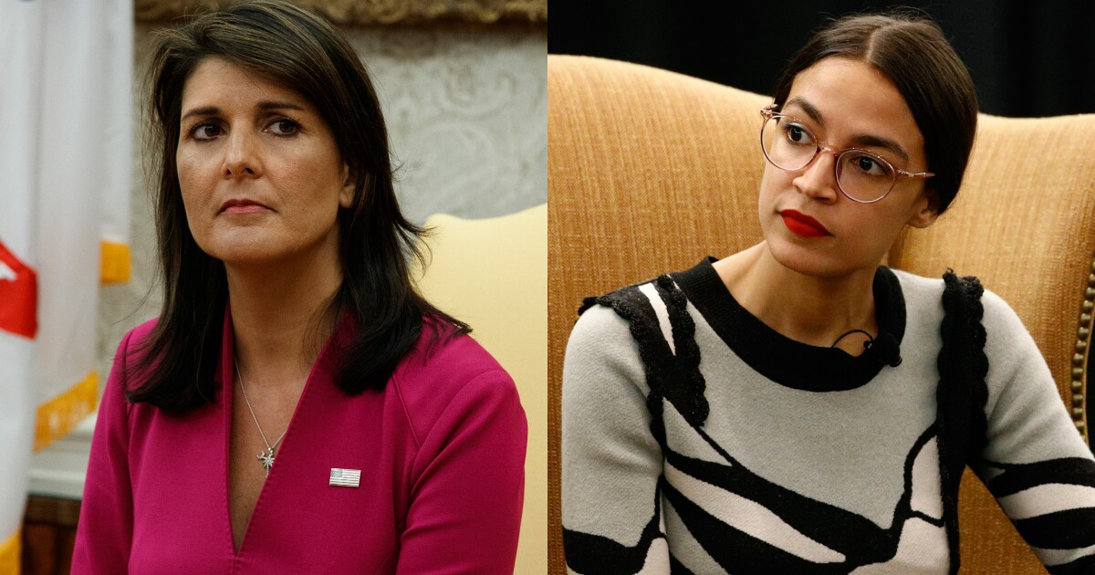 Nikki Haley defends Alexandria Ocasio-Cortez, blasting 'disgusting and  false treatment'