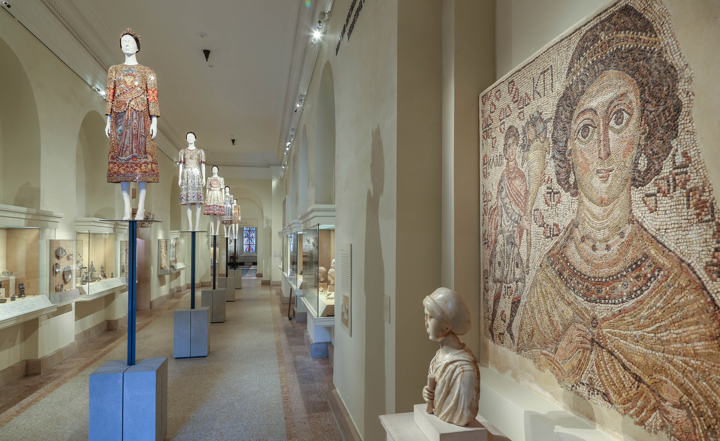 View of the Mary and Michael Jaharis Galleries for Byzantine Art