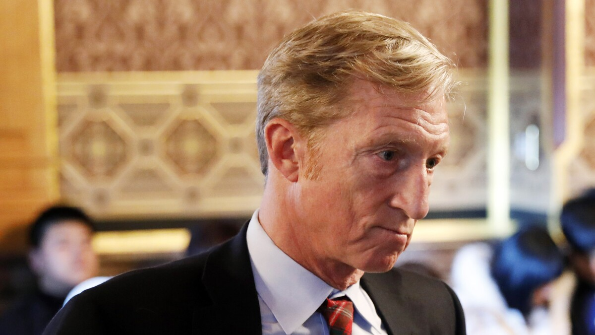 Climate hawks fear Tom Steyer's presidential run could backfire
