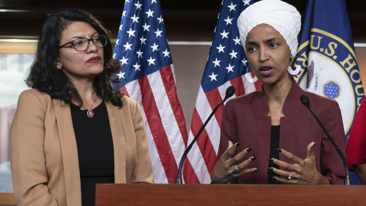 The Media are mum on the virulently anti-Semitic group behind Rashida Tlaib's and Ilhan Omar's since-canceled Israel trip
