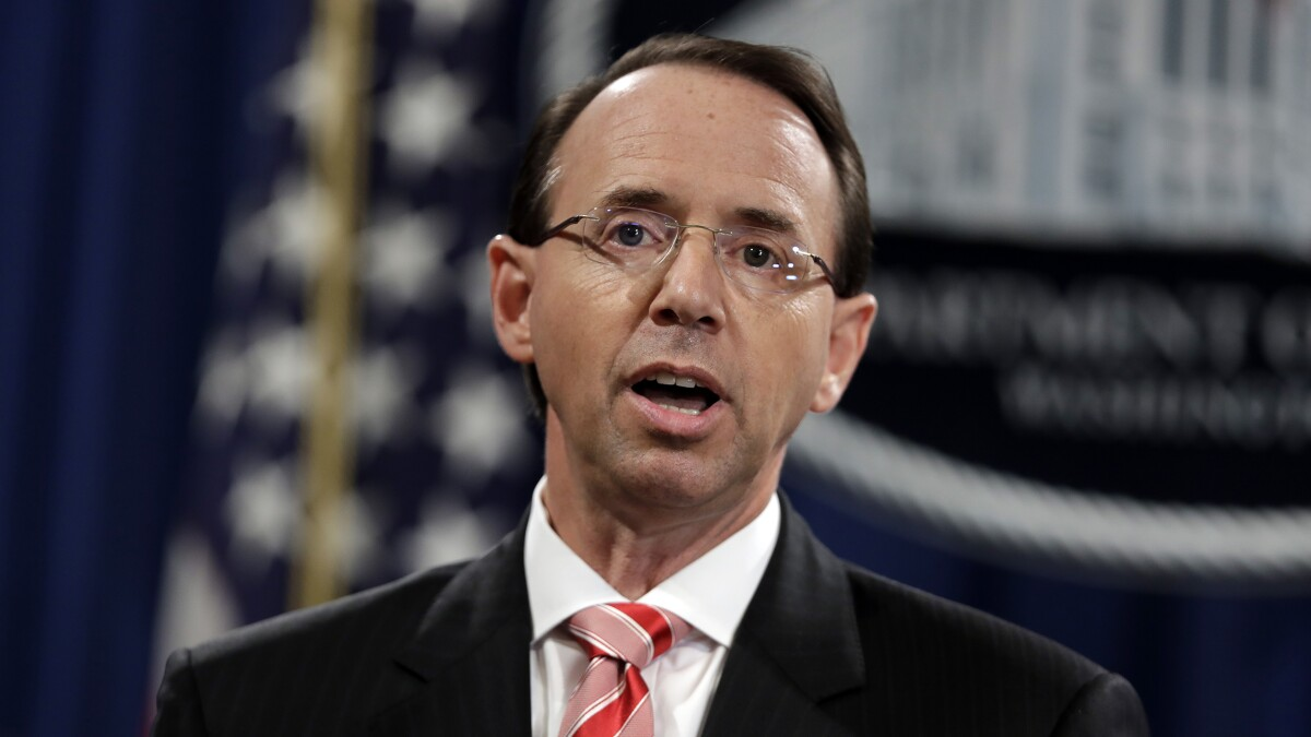 Rod Rosenstein considered appointing special counsel even before Comey firing