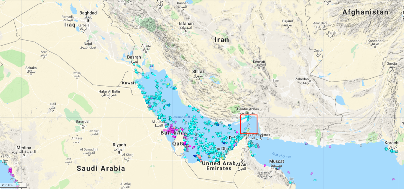 Middle East Map Strait Of Hormuz.How Iran Would Lose By Mining The Strait Of Hormuz