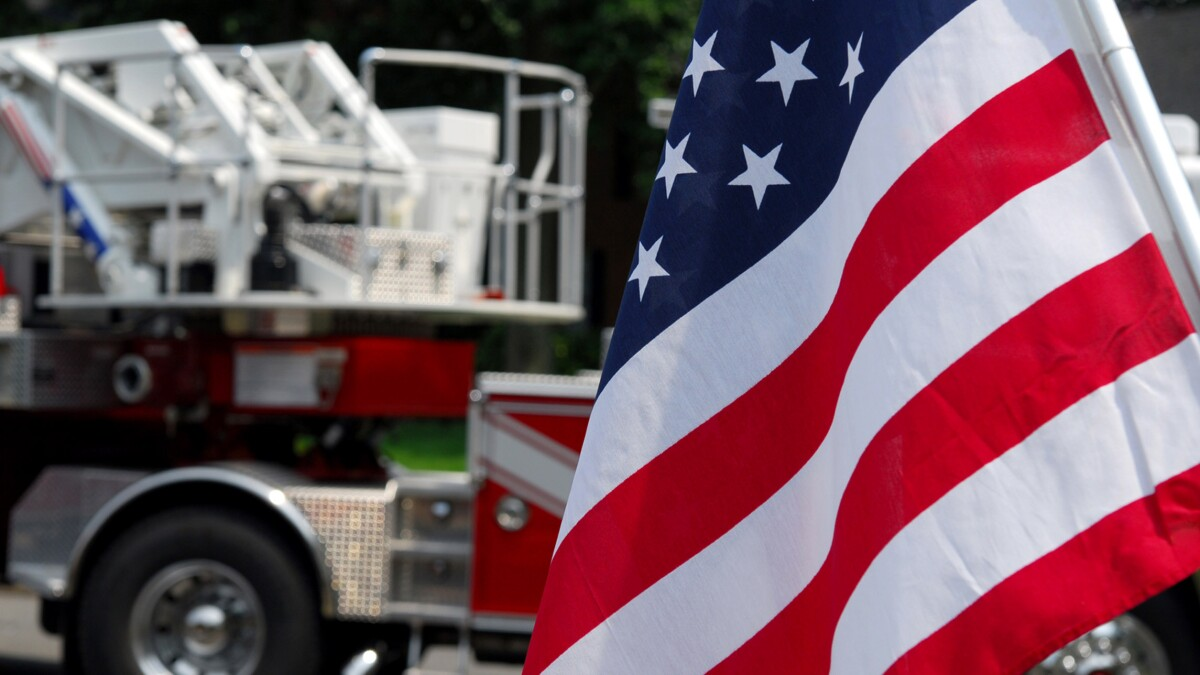 Colorblind firefighter brought to tears after seeing American flag in color for first time