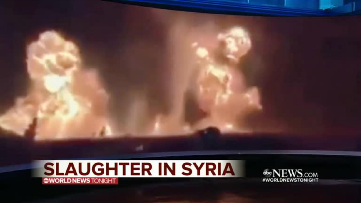 ABC News' 'slaughter in Syria' footage appears to come from a Kentucky gun range