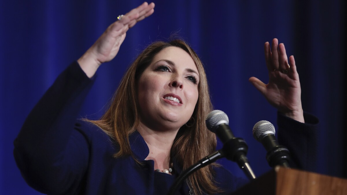 GOP chairwoman Ronna McDaniel mocked as 'Ms. Romney' after her nepotism crack at Bidens