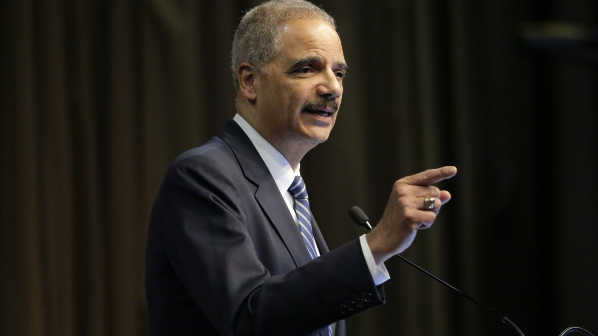 Eric Holder warns of national fallout to post-presidency Trump prosecution