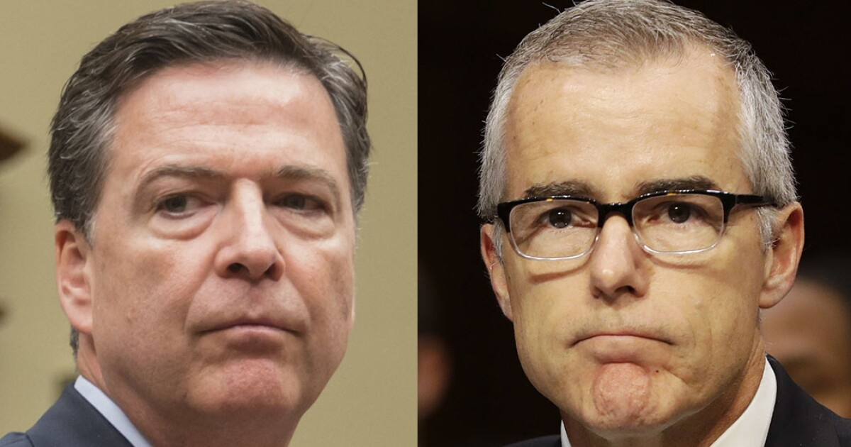 Mueller report is another embarrassment for James Comey and Andrew McCabe