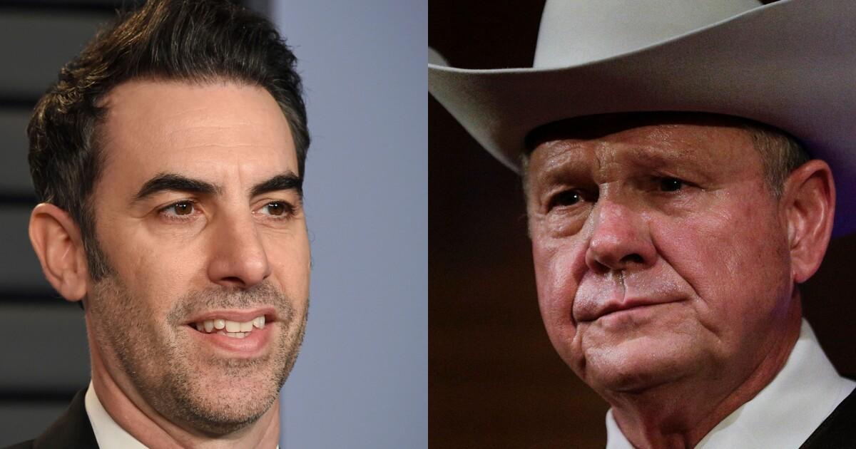 Judge hands Roy Moore a defeat in lawsuit against Sacha Baron Cohen