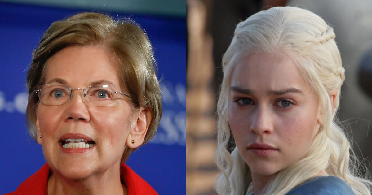 Elizabeth Warren wants Dany to win the Iron Throne because income inequality or 2020 or something