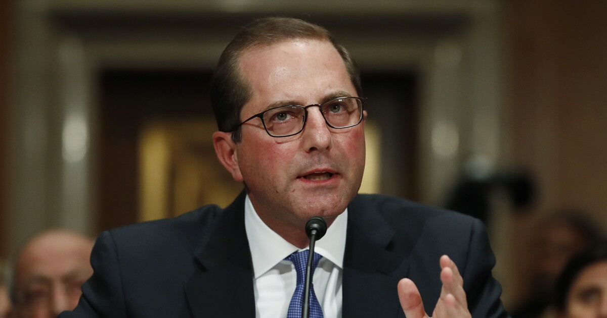 HHS Secretary Alex Azar blames 'complacency' for falling vaccination rates
