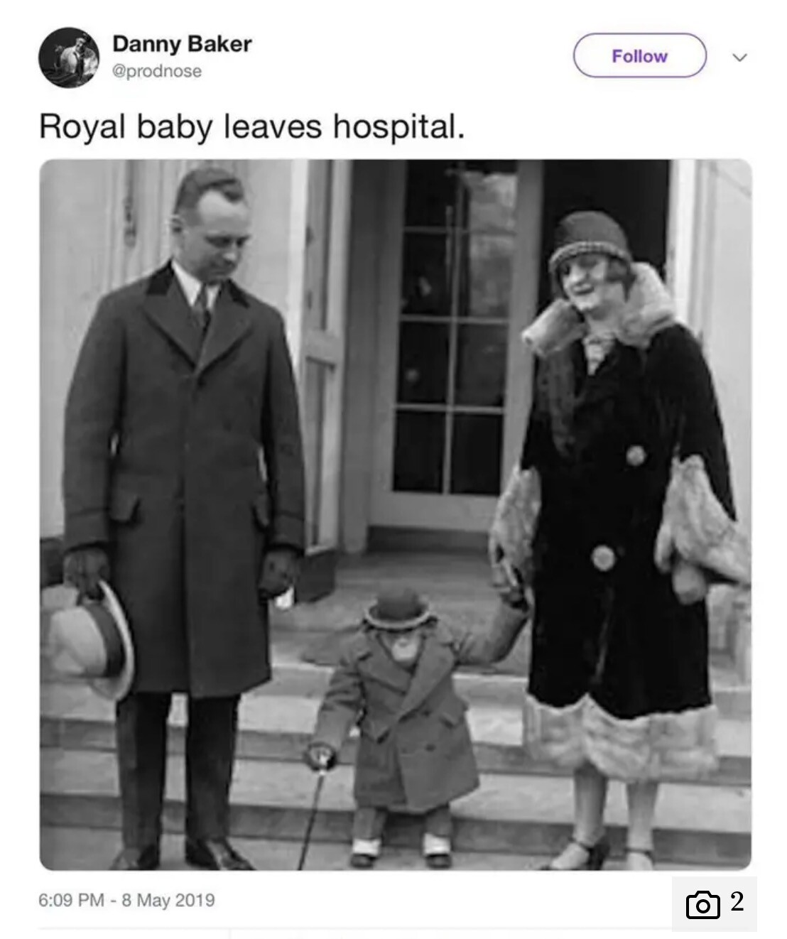 Image result for racist tweet about the royal baby