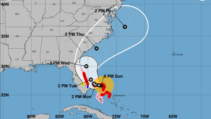 Hurricane Dorian Projected To Get Dangerously Close To Florida