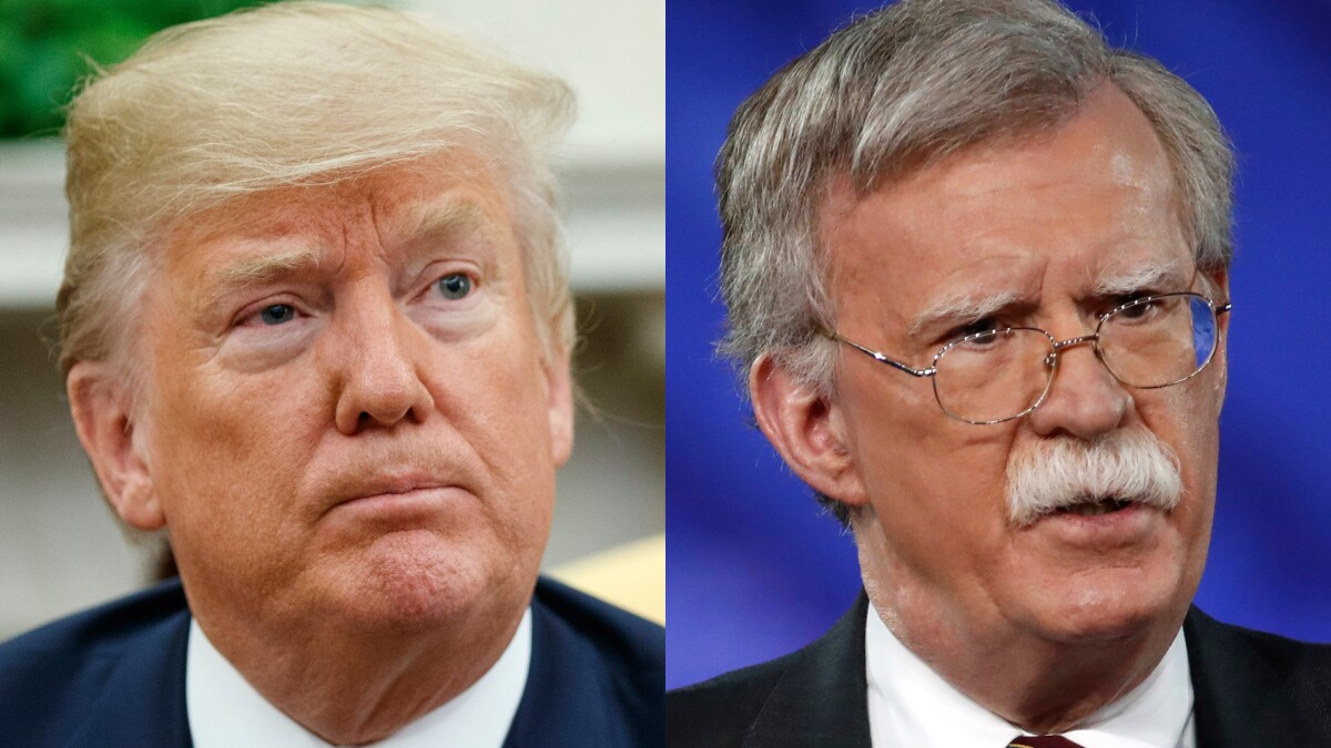 John Bolton trashes Trump a week after ouster
