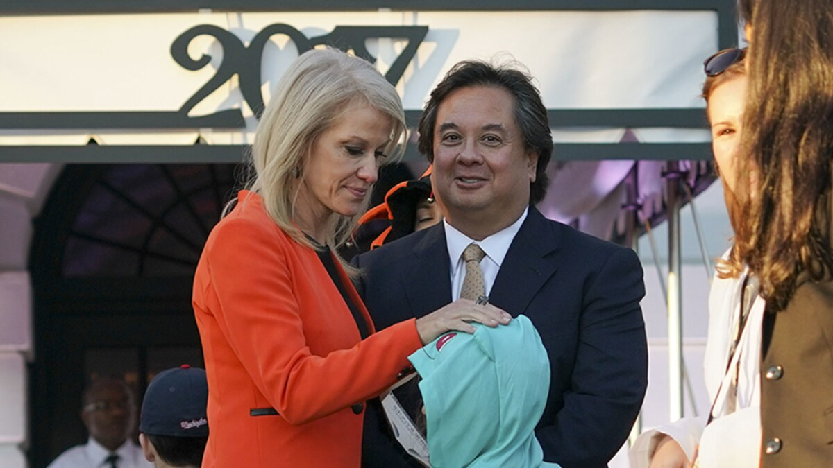 George Conway brands Trump 'local moron' over punctuation slip