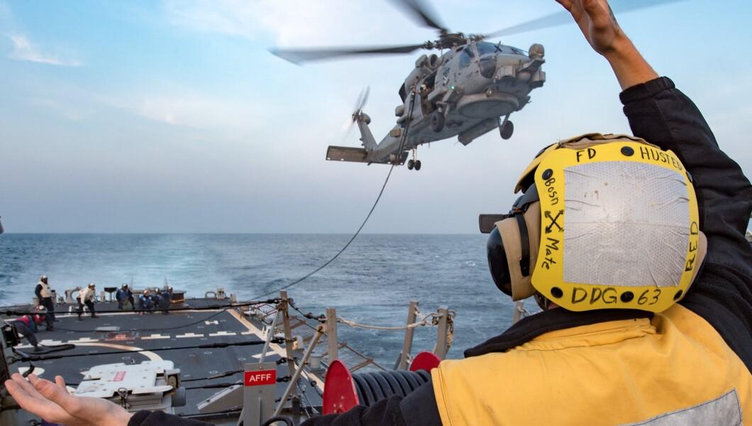Resultado de imagem para helicopter crashes aboard USS Ronald Reagan
