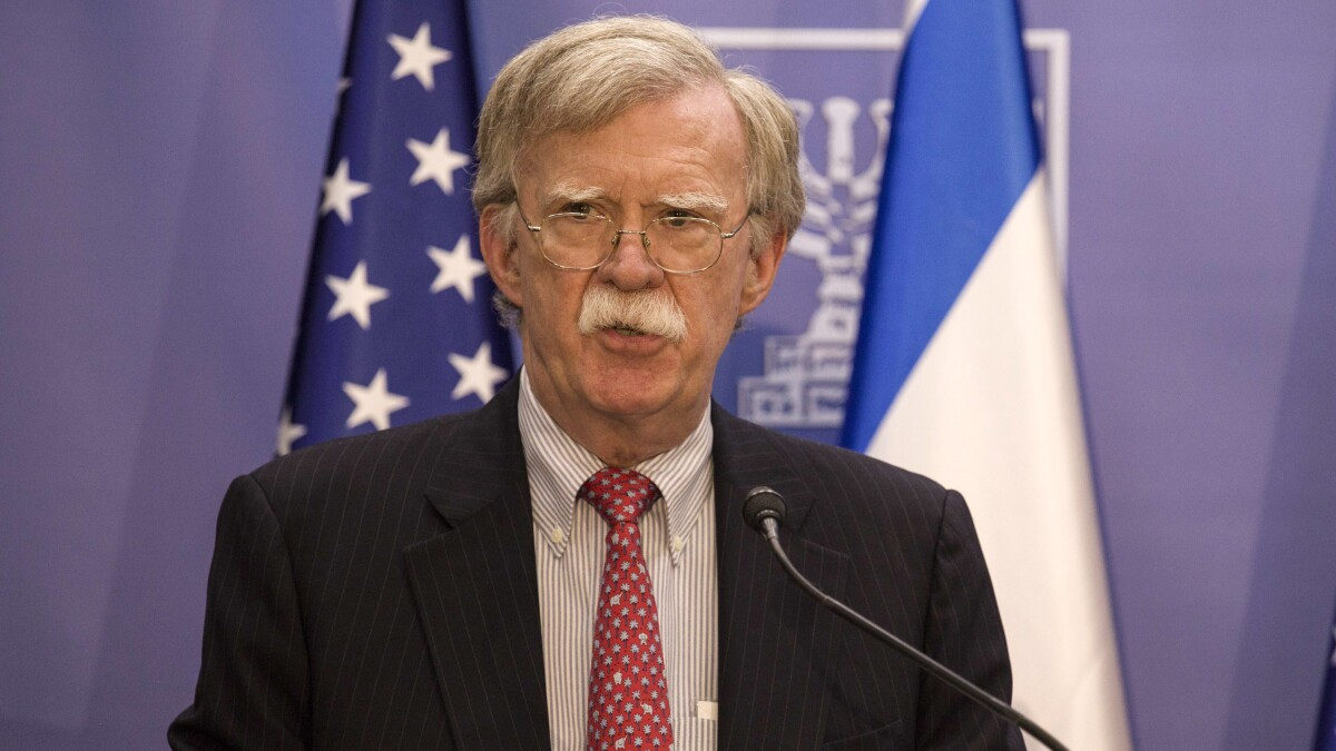 Bolton says Iran should not mistake US 'prudence' for 'weakness'