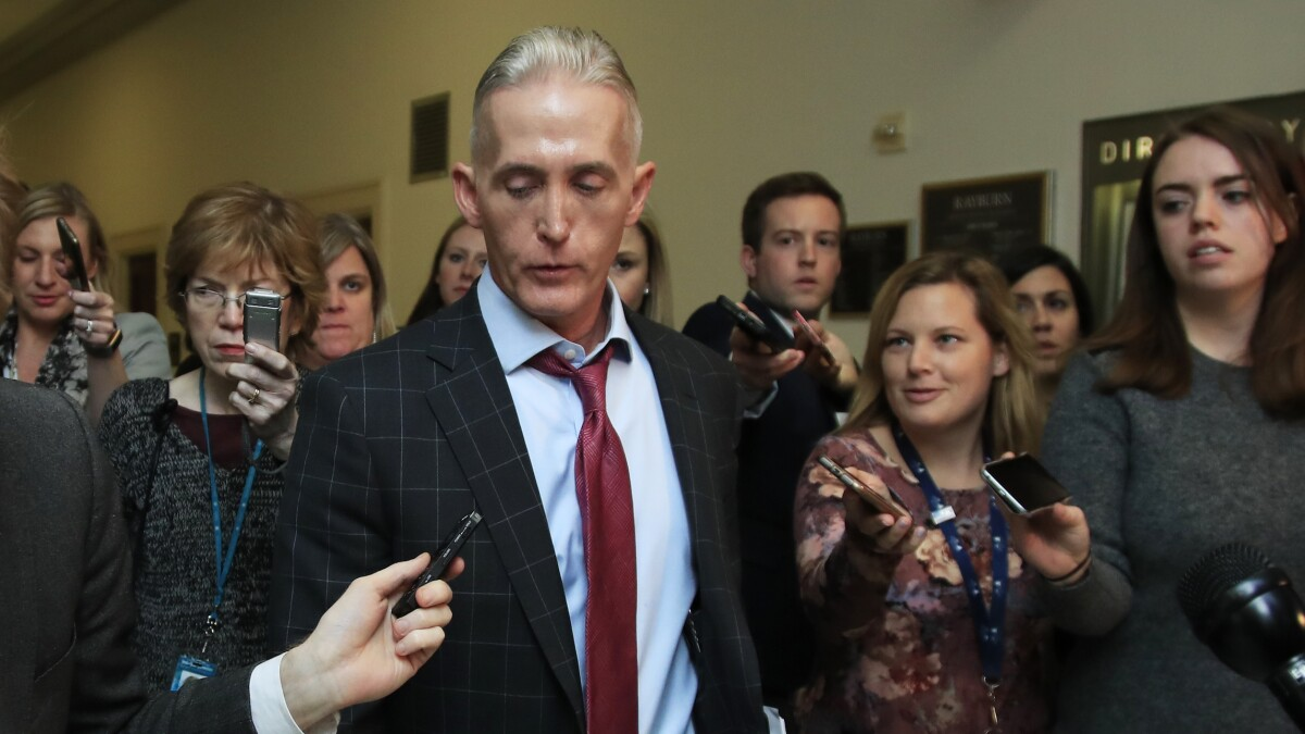 Trey Gowdy declined to represent Trump in impeachment inquiry: Report