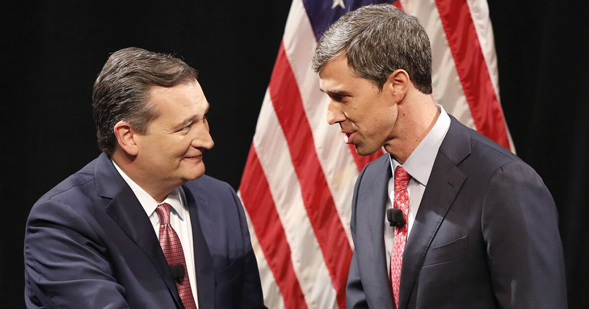 Ted Cruz smiles for camera with Beto O'Rourke one week after midterm election fight
