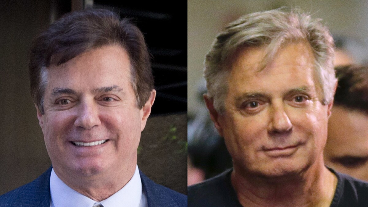 Manafort's appearance has changed dramatically