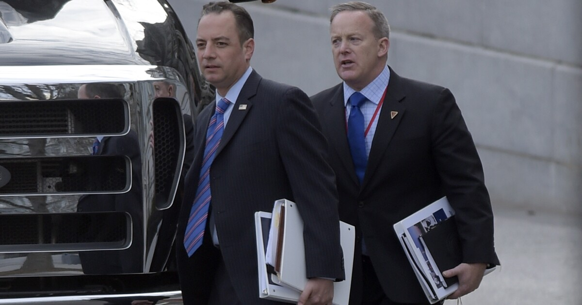 Sean Spicer and Reince Priebus return to Trumpworld with posts on White House fellows commission