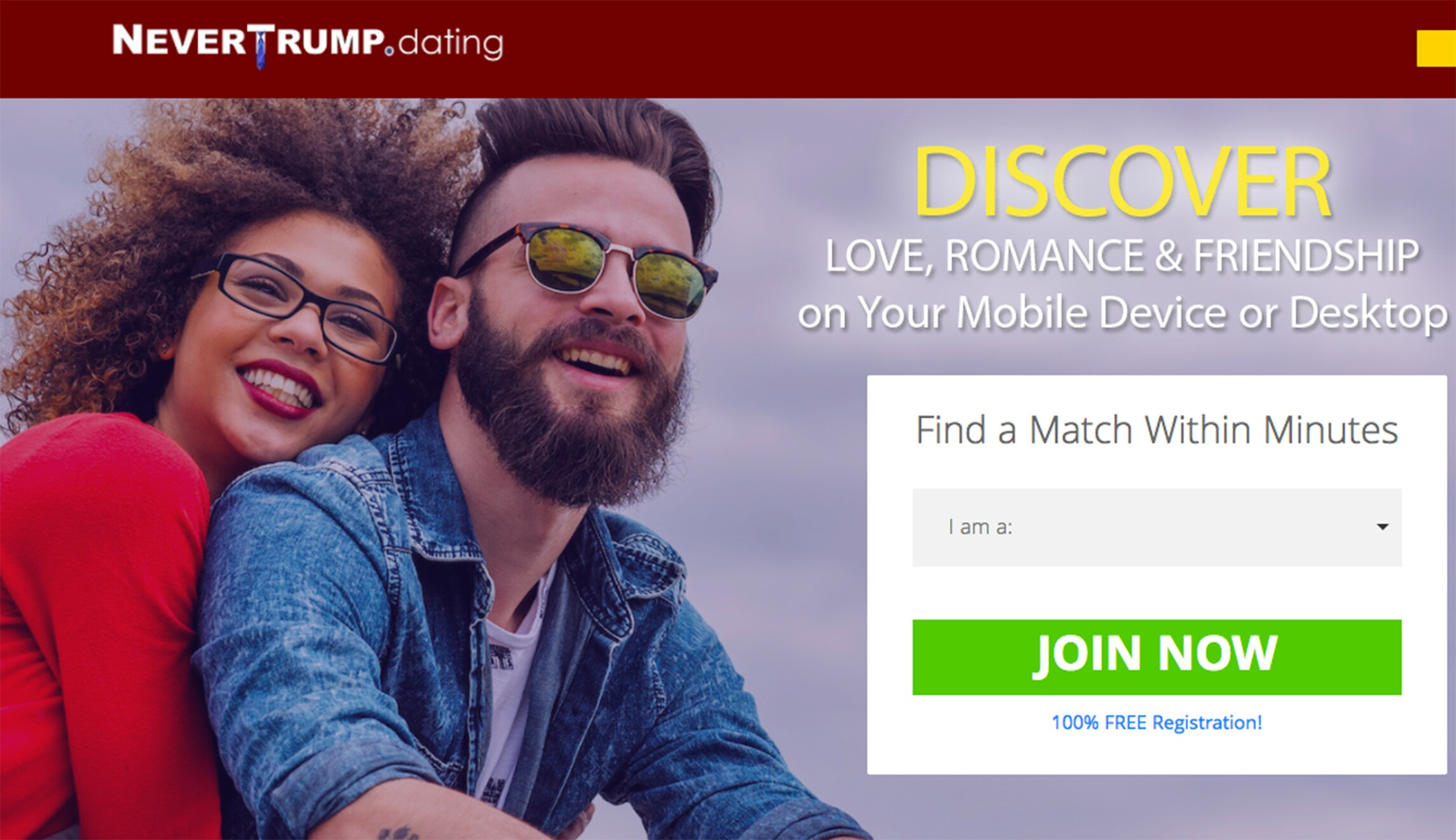 anti-Trump dating websites