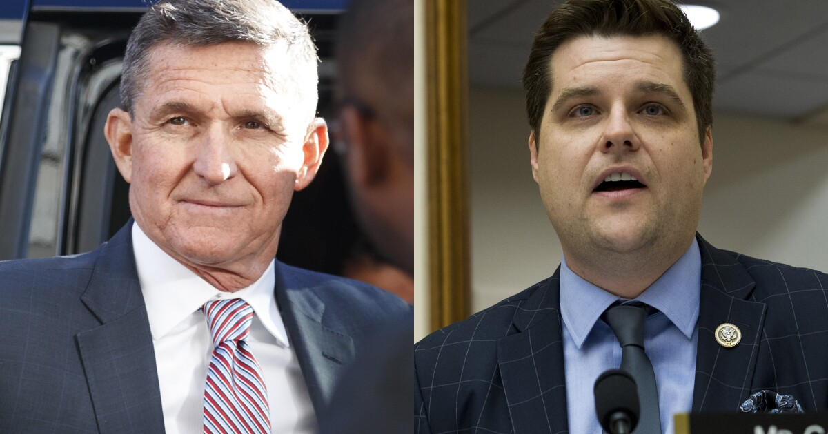 Report: Michael Flynn texted Rep. Matt Gaetz after cooperating with the Mueller probe