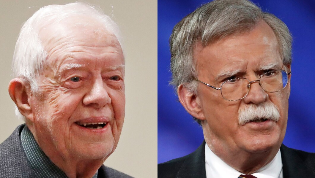 Jimmy Carter and John Bolton