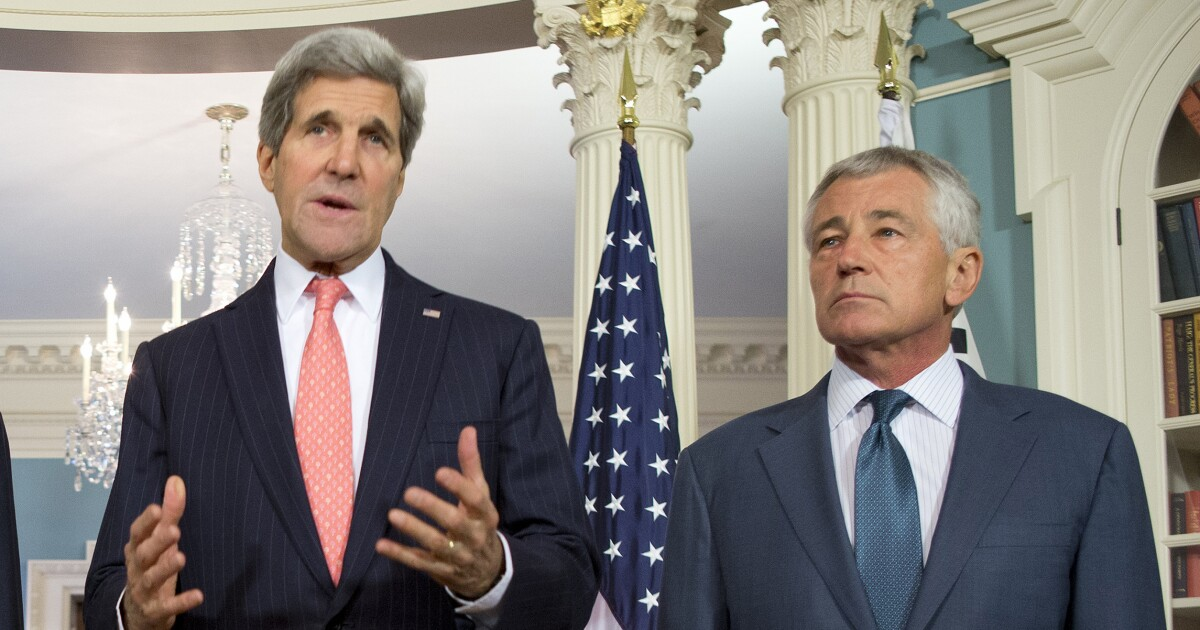 John Kerry, Chuck Hagel lead former national security officials in rebuke of Trump's climate skeptic panel