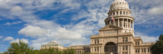 Texas State Capitol Building in Austin, 3/4 view