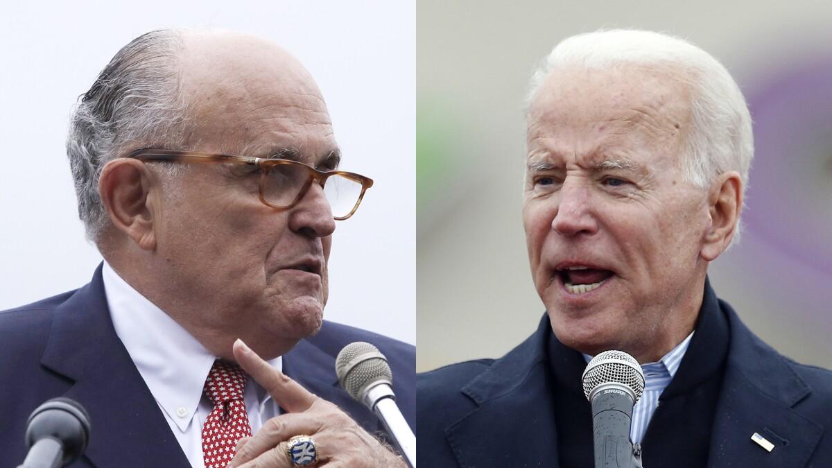 Rudy Giuliani alleges Joe Biden tried to bribe Ukrainian president to fire prosecutor