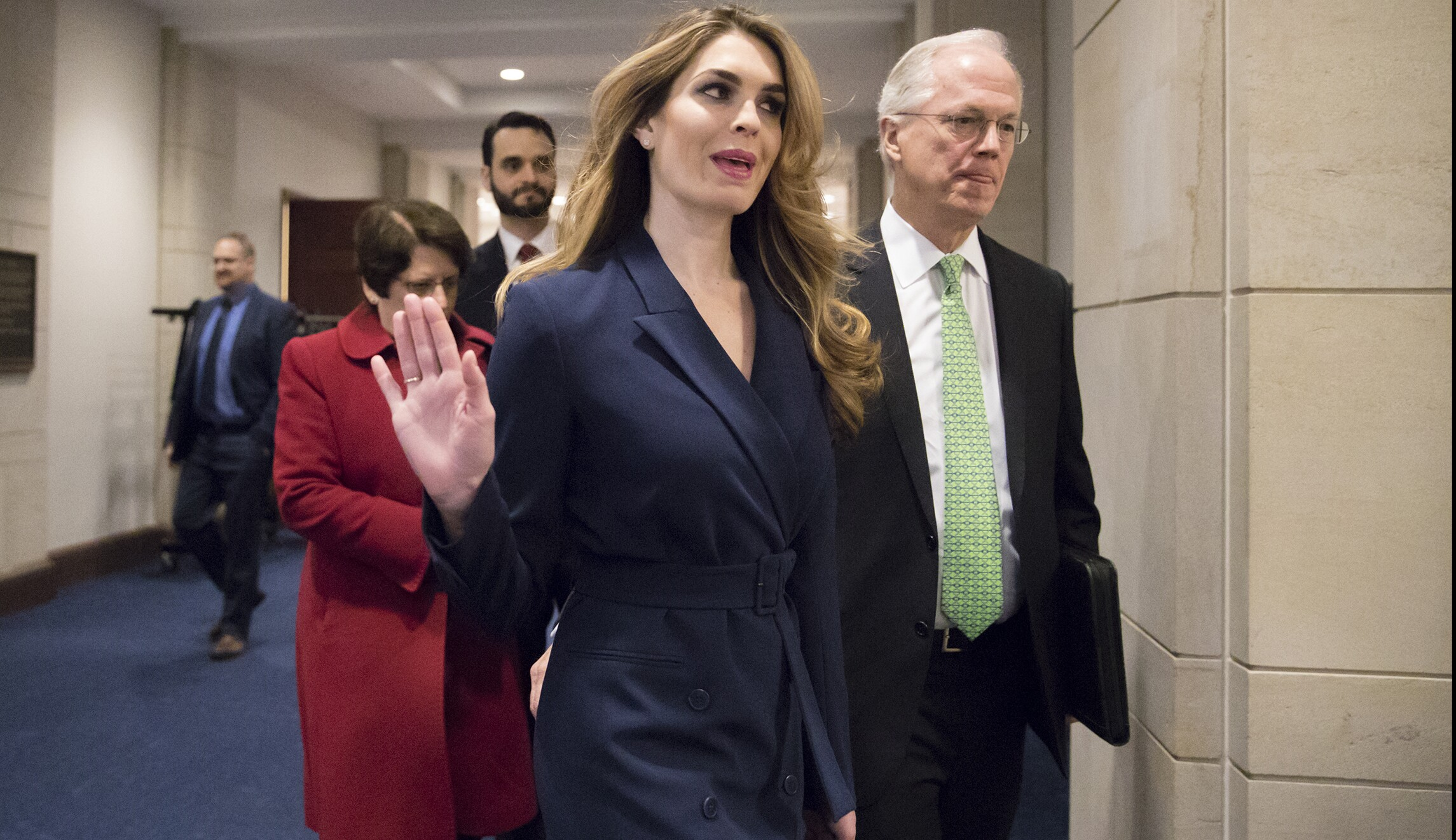 206fc595ffac Hope Hicks refuses to answer questions at House Intelligence Committee