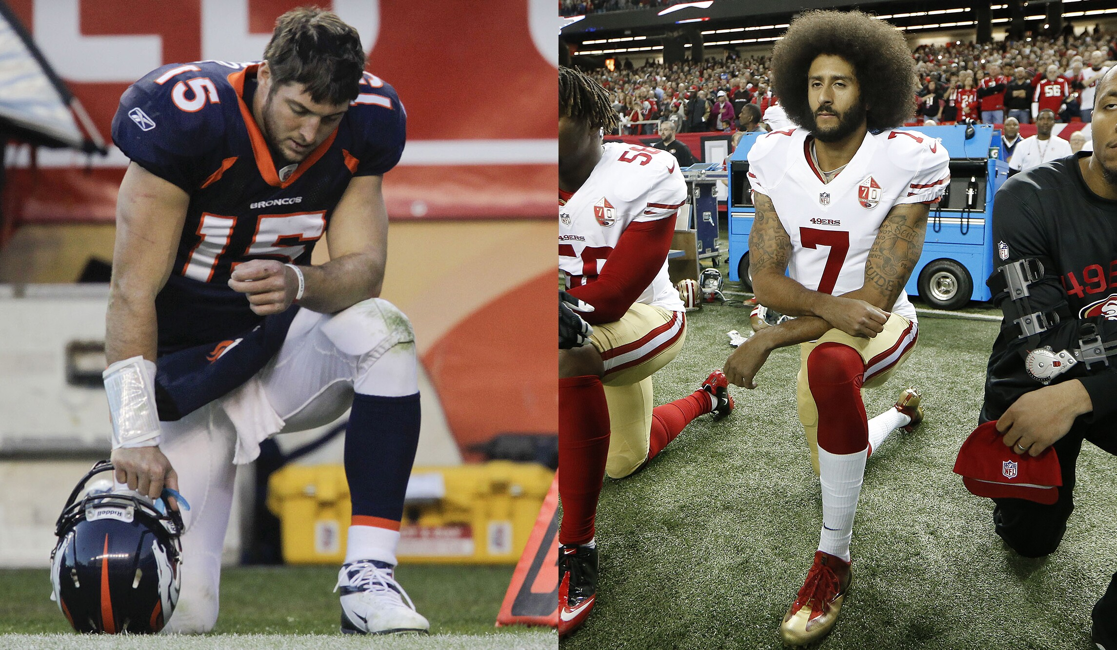 Image result for aff football offers to kaepernick and tebow