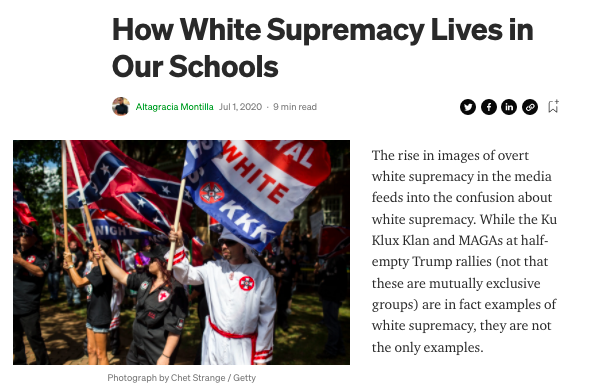 How White Supremacy Lives in Our Schools