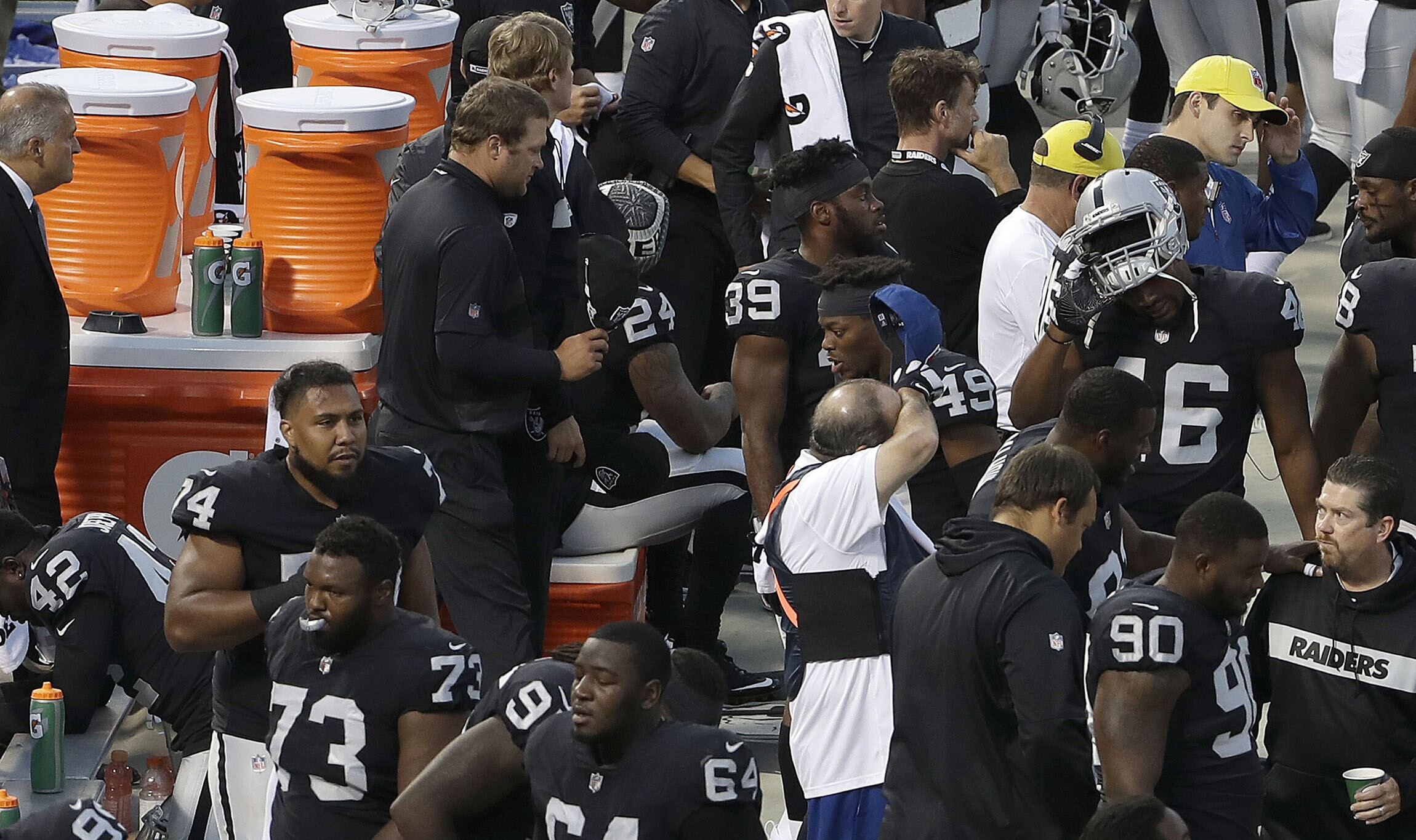 372c5d70d2e Marshawn Lynch sits, only two players kneel for anthem in first week of  2018 NFL season