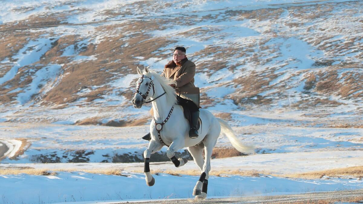 Kim Jong Un's white horse, a dark omen for missile test moratorium