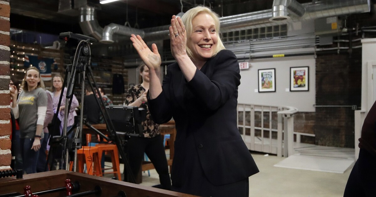 Kirsten Gillibrand tells supporters to meet for Trump Tower rally