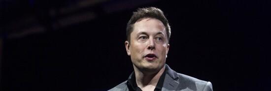Elon Musk, CEO of Tesla Motors Inc., talks at an event.
