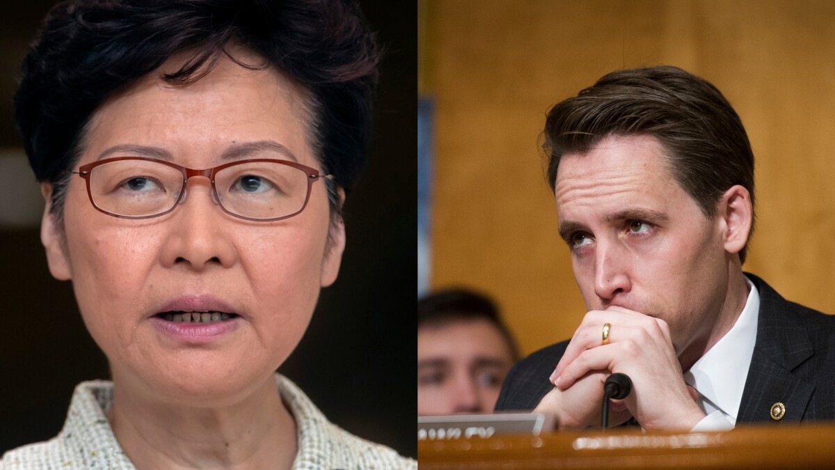 'Resign': Josh Hawley and Hong Kong leader feud over whether her city is a 'police state'