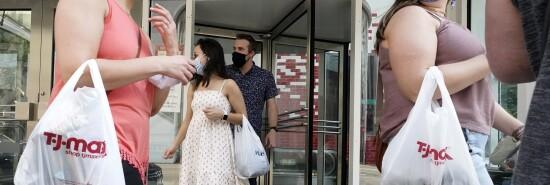 Virus Outbreak Illinois Shopping