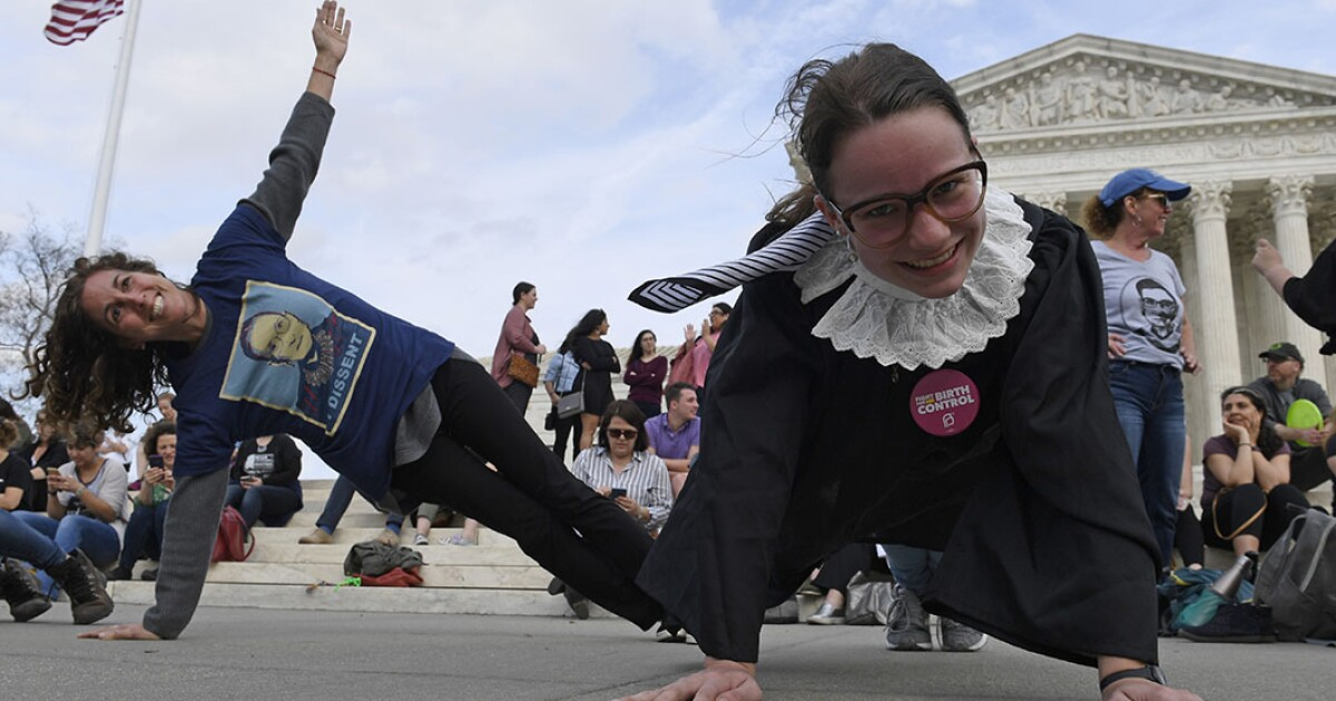 Trainer reveals Ruth Bader Ginsburg is planking again at #PlankLikeRBG event honoring her birthday