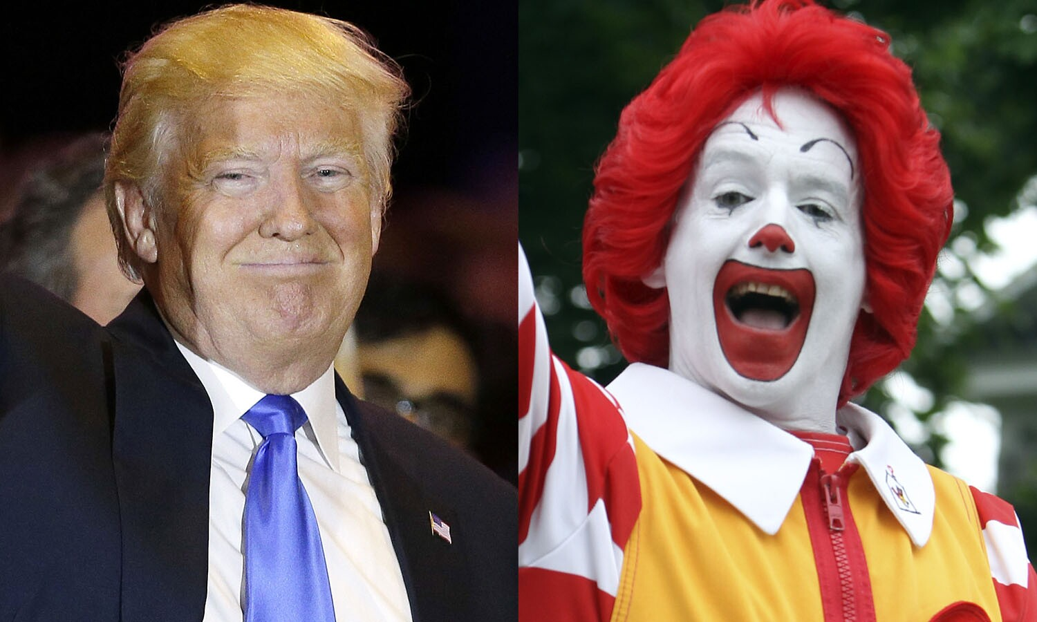Image result for trump as ronald mcdonald pic