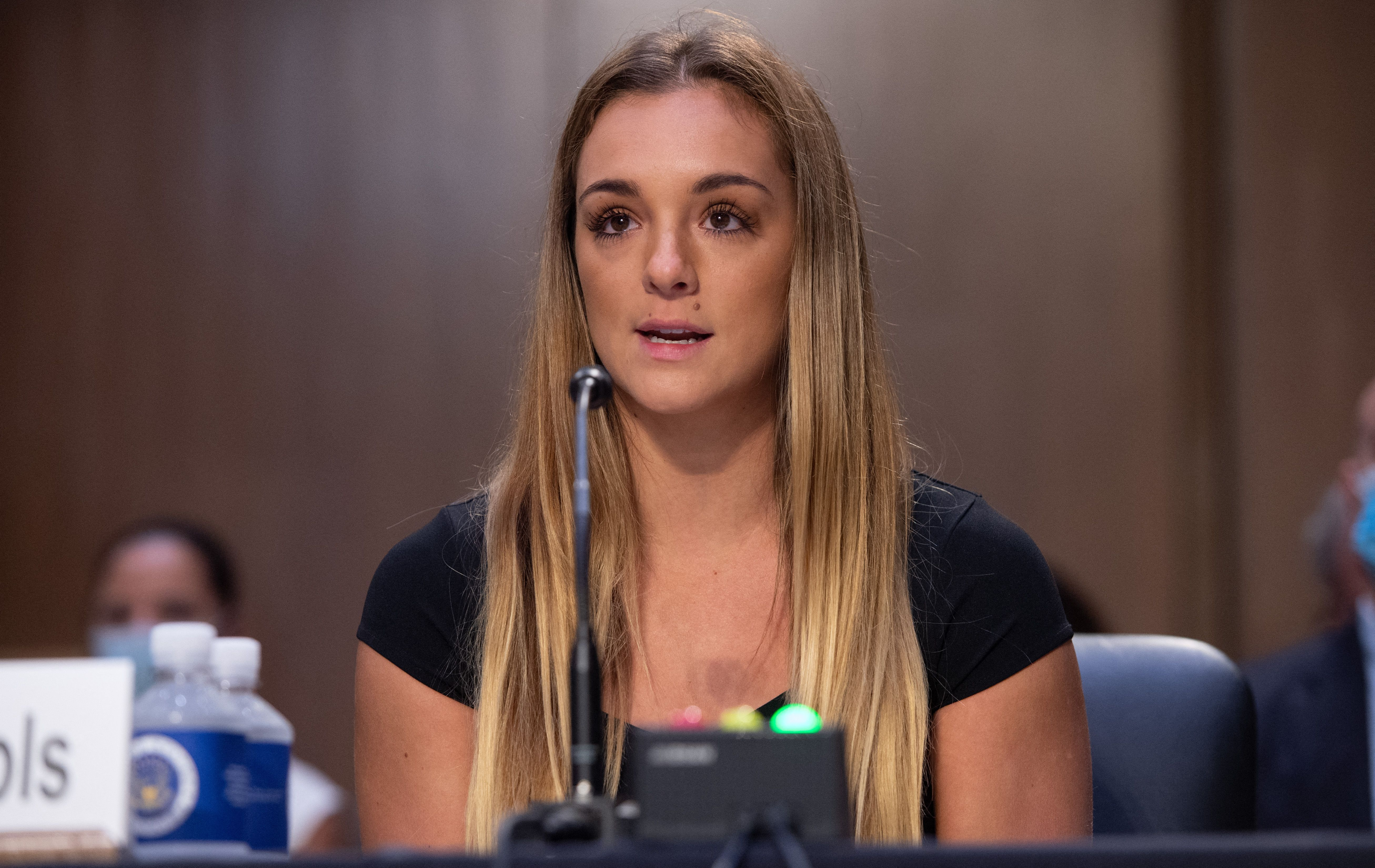 Maggie Nichols testifies during a Senate Judiciary hearing