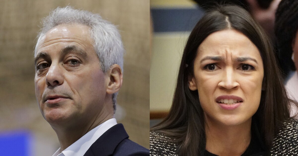 AOC mocks Rahm Emanuel for joining Wall Street firm