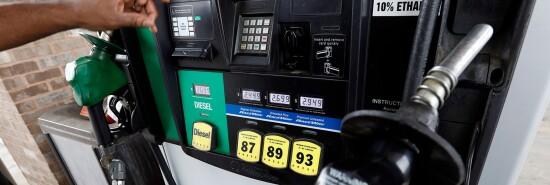A gas pump is shown.