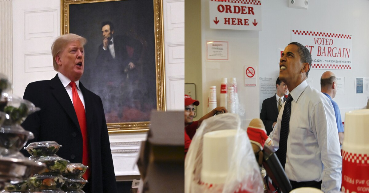 Mocking Trump over fast food is as dumb as when conservatives bashed Obama over how he ate a burger