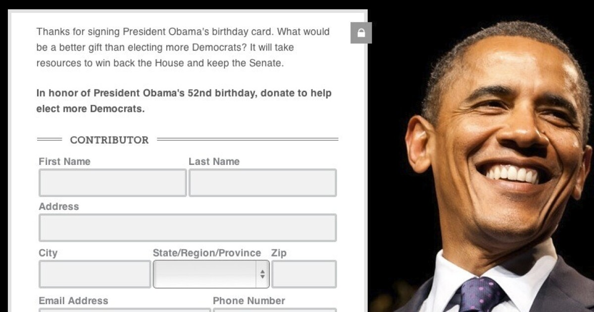 Dems Urge Americans To Chip In For Obamas Birthday Present