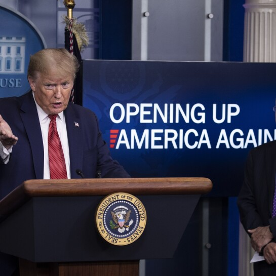 Donald Trump, Anthony Fauci Coronavirus